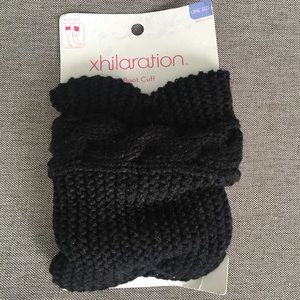 NWT Black Cable-Knit Boot Cuffs